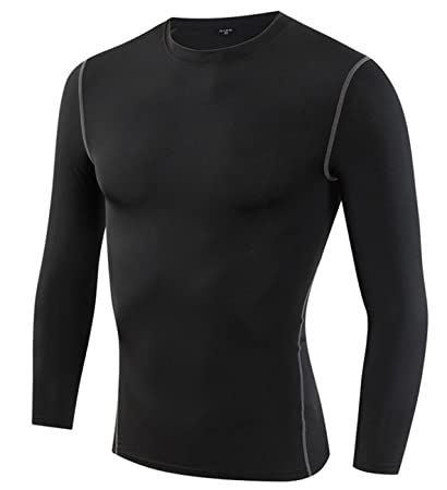 e508967d Yuerlian Mens Thermal Coldgear Compression Long Sleeve Shirt Tight Running Long  Sleeved Tops Dri Fit Baselayer