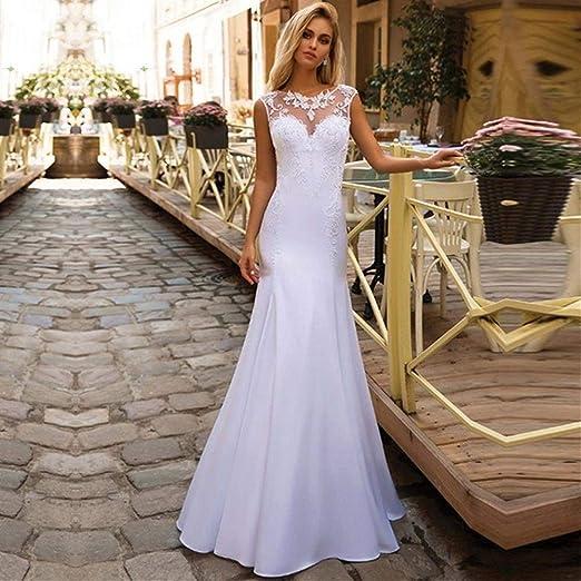 Unbekannt Vestido de Novia de Estilo romántico de la Sirena del ...