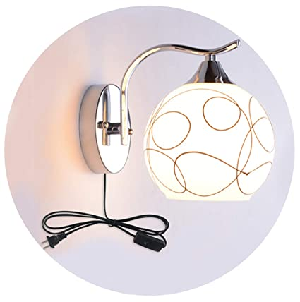 Wall Lamp With Plug In Switch E27 Simple Modern Led Living Room