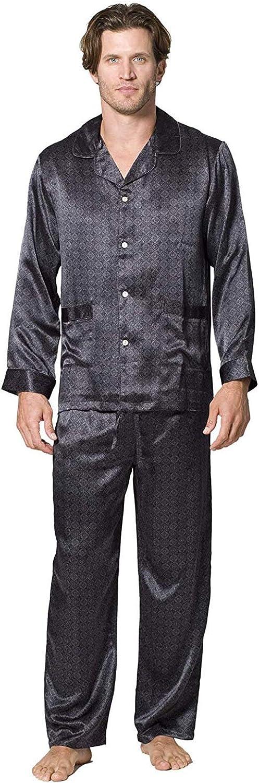 INTIMO Men's Belgravia Silk Pajama Set
