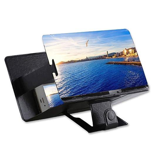 Lupa de pantalla 3D de 8 pulgadas con amplificador de pantalla de vídeo para teléfono móvil