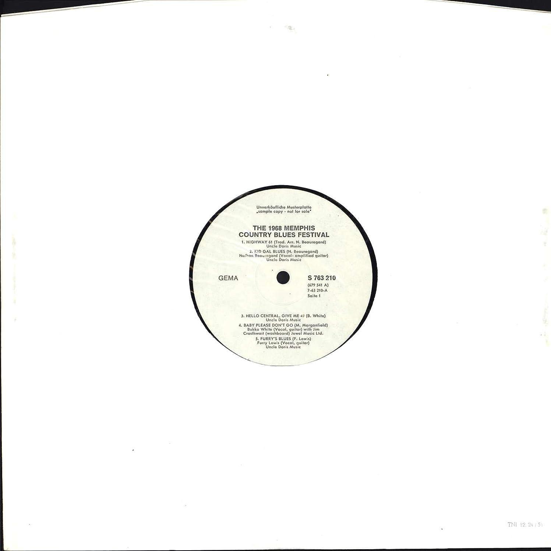 The 1968 Memphis Country Blues Festival [Vinyl LP]: Amazon co uk: Music