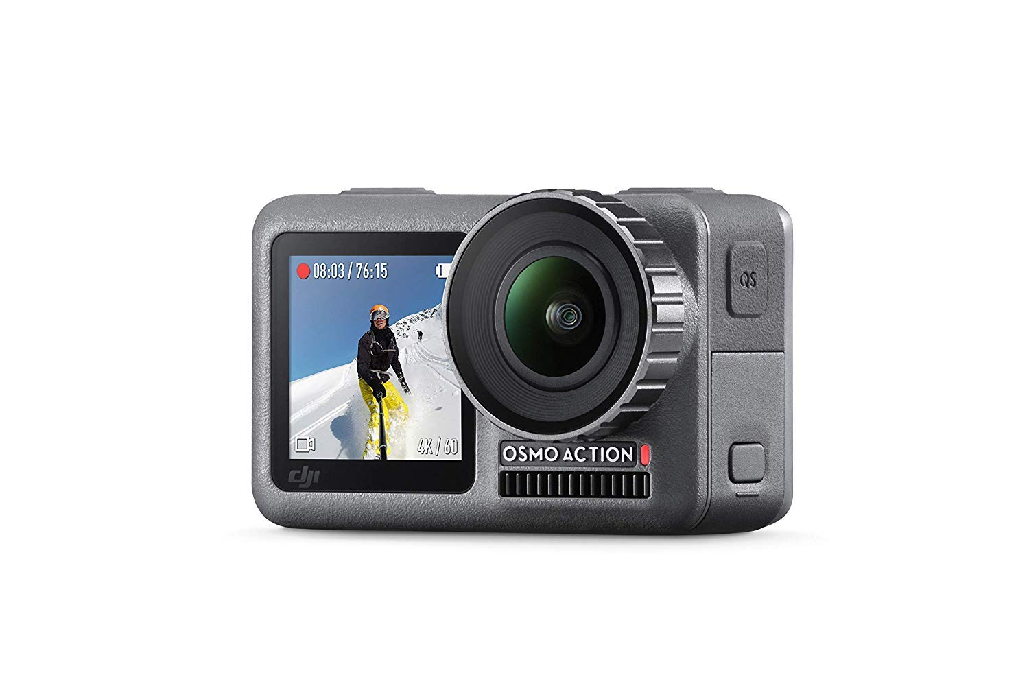 DJI OSMO Action Cam Digital Camera with 2 Displays 11M Waterproof 4K HDR-Video 12MP 145° Angle Black