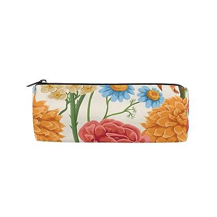 Ahomy Estuches de lápices de acuarela flores tropicales con ...