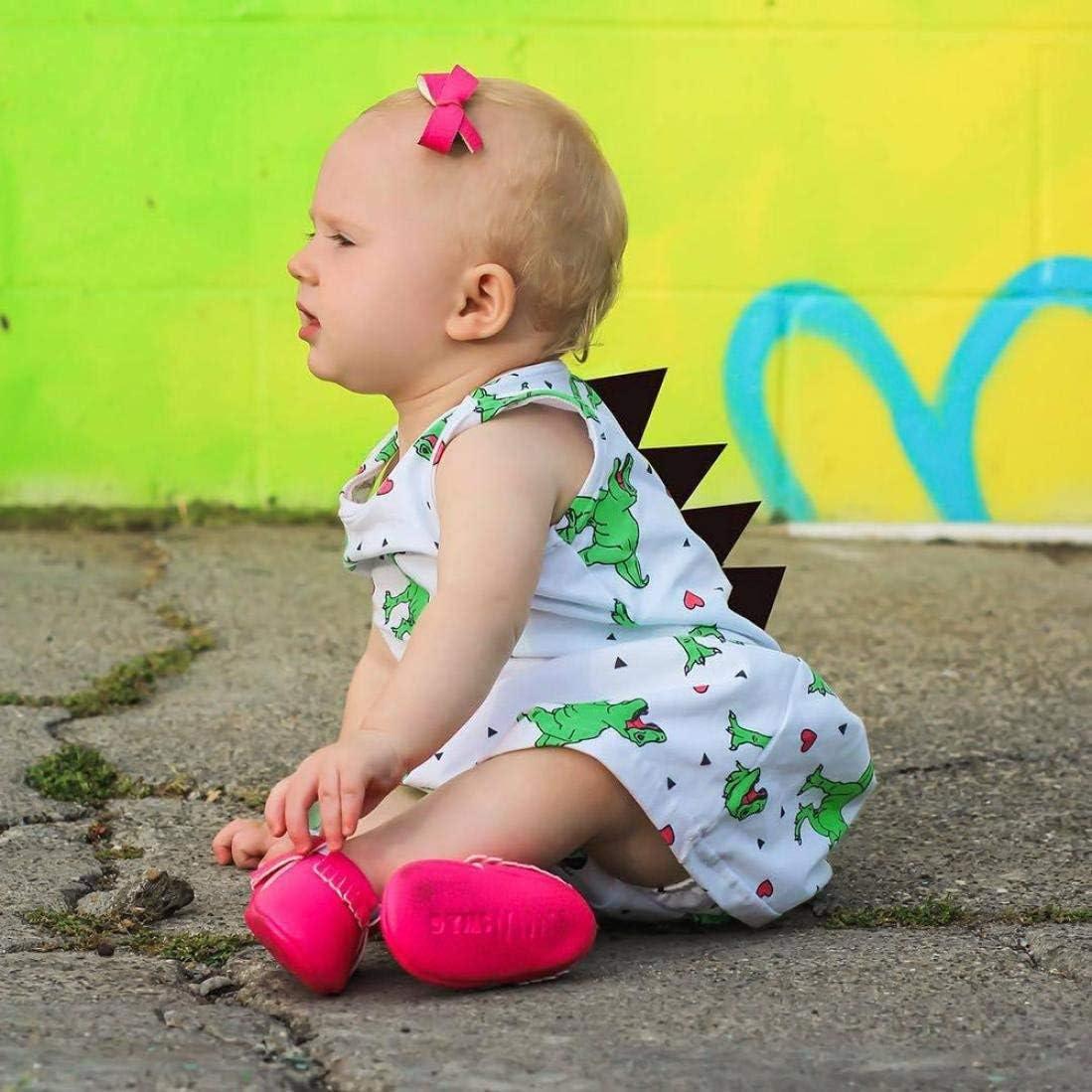 Baby Toddler Girl Cartoon Dinosaur Striped Print 3D Dorsal Fin Dress Set 1-5 Years Old Xman Eletina Baby Girl Dress