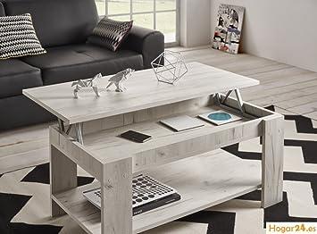 HOGAR24.es Mesa de Centro elevable Modelo Roma Color Blanco Vintage ...