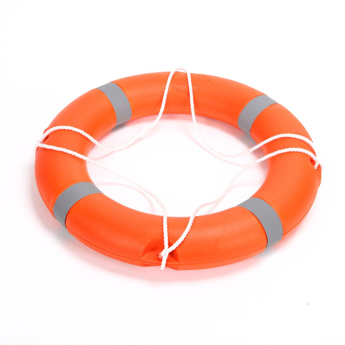 BeautySu. 28'' Diameter Professional Adult Foam Swim Ring Buoy Orange Lifering with White Bands by BeautySu. (Image #4)