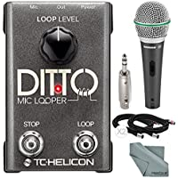 TC-Helicon Ditto Microphone Looper and Accessory Bundle...