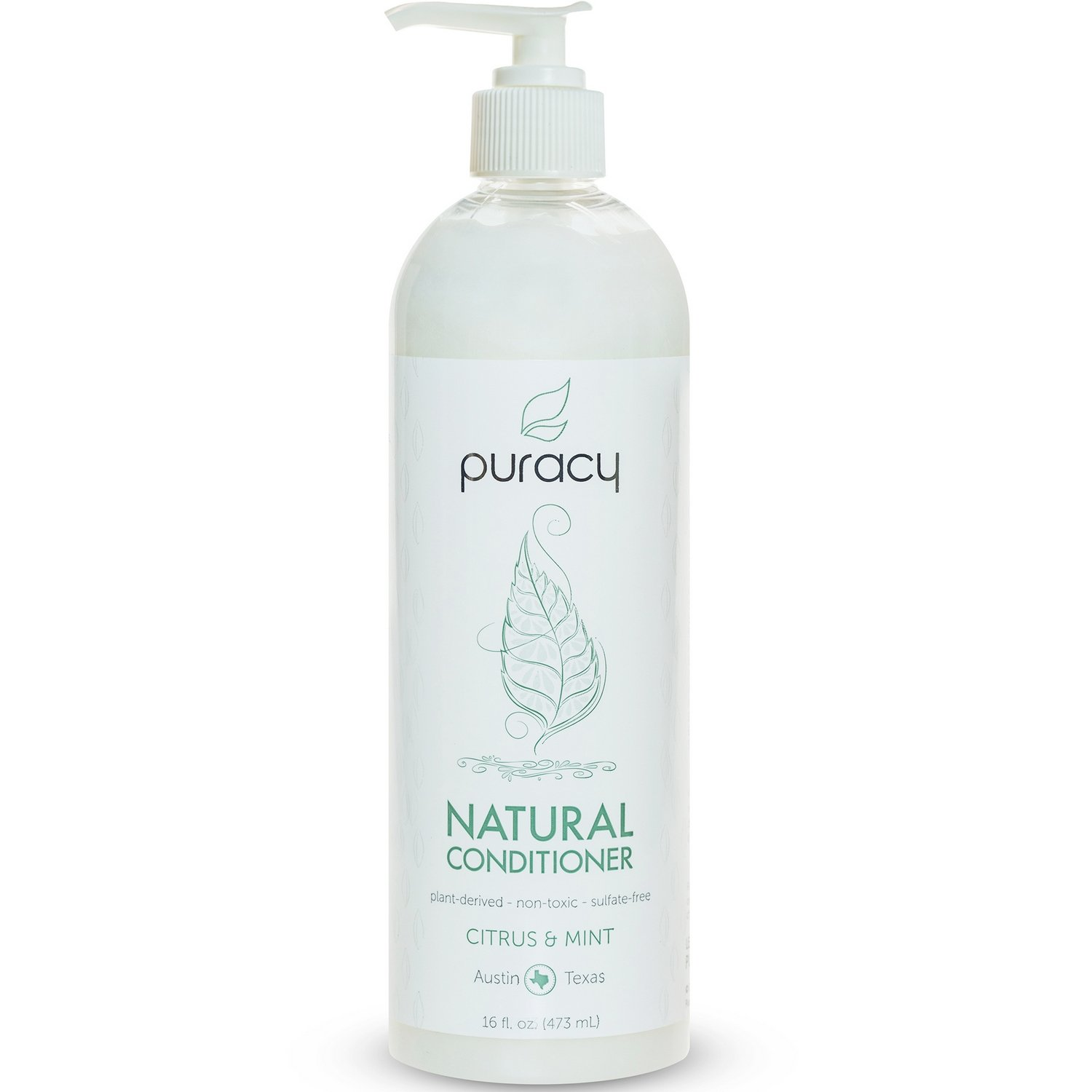 Puracy Natural Daily Sulfate-Free Hair Conditioner, Citrus & Mint, 16 Fluid Ounce