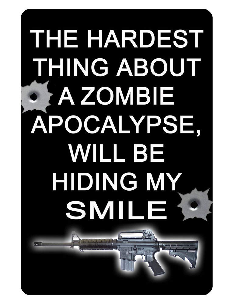 PotteLove Cartel de Apocalipsis Zombie, Personalizable, con ...