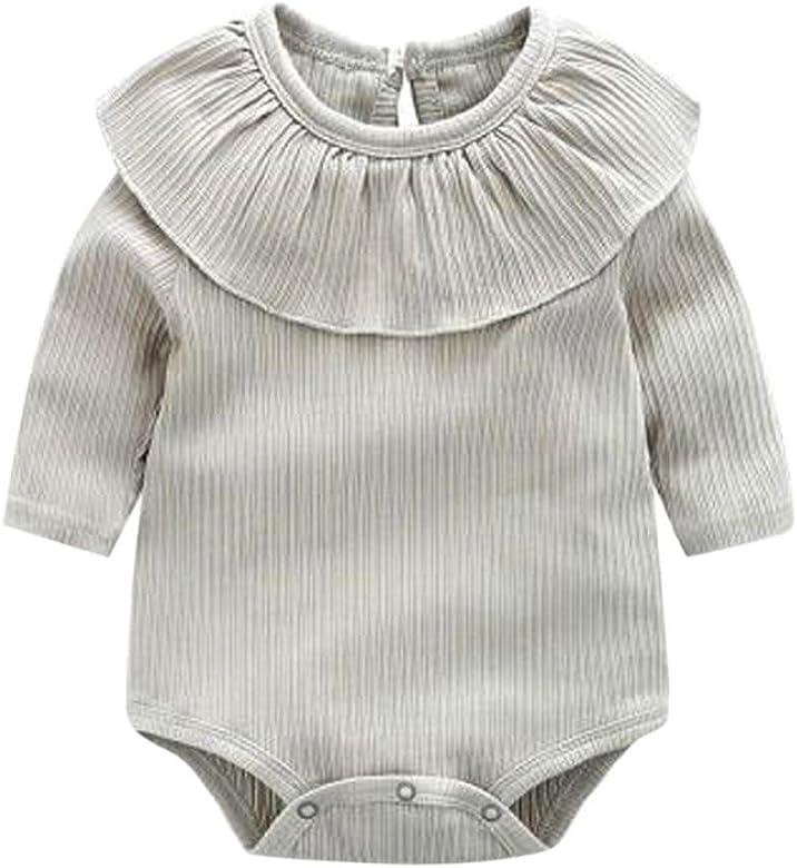 Bebé Mono, Shop Recién Nacido Bebé Mono Niña Ruffles sólidos ...