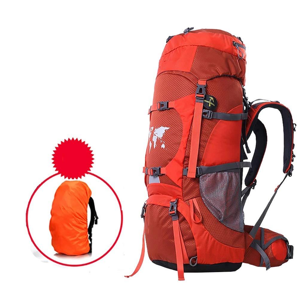 AY-MBJDFX アウトドアハイキングバックパック、 防水 60L / 80L容量、 多機能 旅行/キャンプ コンピューターバッグ (色 : Orange, サイズ さいず : 80L) 80L Orange B07NPP6KQ5