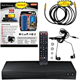 Samsung BD-J5100 Curved Blu-ray Disc Player - 5 Pack Kit - Remote Control - 3 Pc Screen Cleanser Kit - 12 FT High speed HDMI Cable - Ear Buds