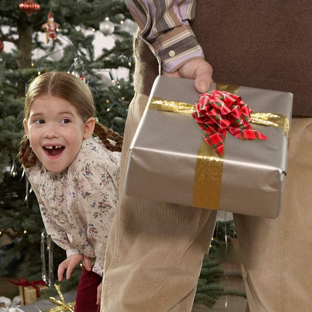 sac de boxe Lot de 12 n/œuds /à tirer pour cadeau de No/ël 10,9 cm panier d/écorations pour cadeaux n/œuds rouges verts dor/és et rennes de neige