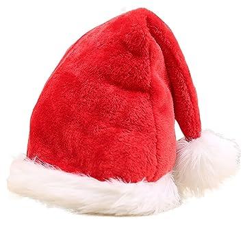 11dc265a2ea41 Bonnet père Noel chapeau NOEL pour Adulte  Enfant   Bébé (Rouge 2 Pack)