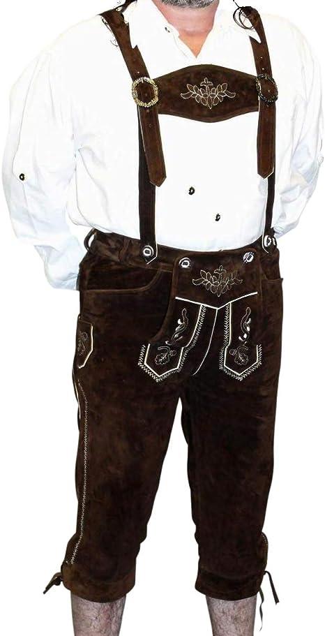 Lederhosen Oktoberfest Vestito Di Cuoio Tedesco Pantaloncini kurze PLUS Camicia Design 1