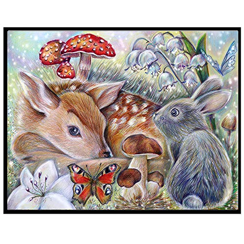 - Baulody DIY 5D Diamond Painting by Number Kit, Easter Bunny Rabbit Diamonds Painting Animal Rhinestone Embroidery Cross Stitch Supply Arts Craft Canvas Wall Decor (C)
