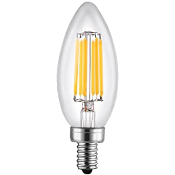Leto b11 6w led light bulbs candelabra base dimmable ul listed leto b11 6w led light bulbs candelabra base dimmableul listed 60w equivalent light aloadofball Images