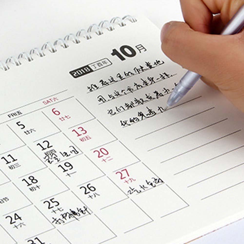 ANJUY Creative Desk Calendars,Flip Standing Desk Calendars for School,Classroom,Family,Blue,Pack of 2 by ANJUY (Image #5)