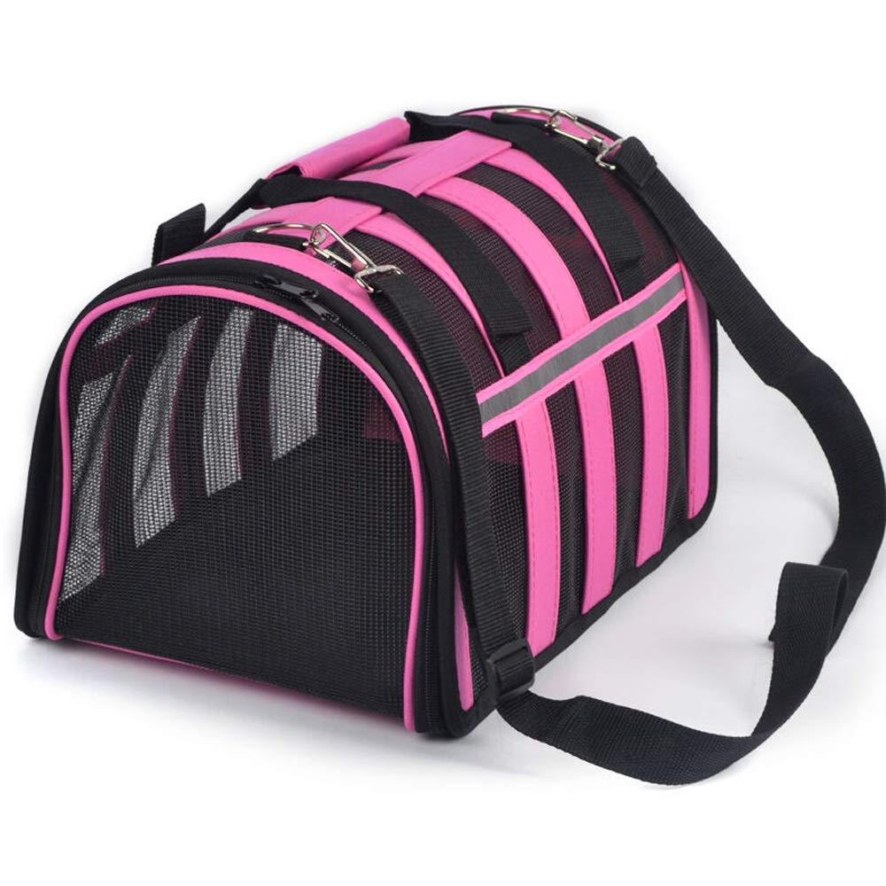 Pink BPet Bag Out Bag Travel Cat Bag Dog Bag Cat Bag Cage Dog Backpack (color   Pink, Size   B)