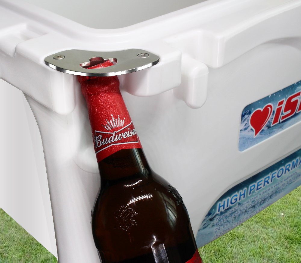 iSmart 26 Quart Ice Chest Rotomolded Cooler Box with Bottle Opener,High Performance Commercial,Gray,25L Cooler-QT26-G