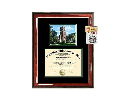 Universidad del Estado de Michigan Diploma Frame Regalo de ...