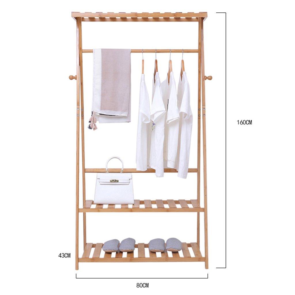 80 cm DQMSB Multifunctional Coat Rack Household Hanging Clothes Rack Bedroom Storage Rack Simple Hanger Floor Type Coat Racks (Size   80 cm)