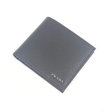 huge discount 0f9b5 055c7 Prada Portafoglio Nero/Mercurio Saffiano Bicolo Leather ...