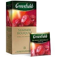Greenfield Summer Bouquet, Infusión Herbal, Frambuesa, Hibisco (Flor de Jamaica), Rosa Mosqueta, Manzana, 25 bolsitas…