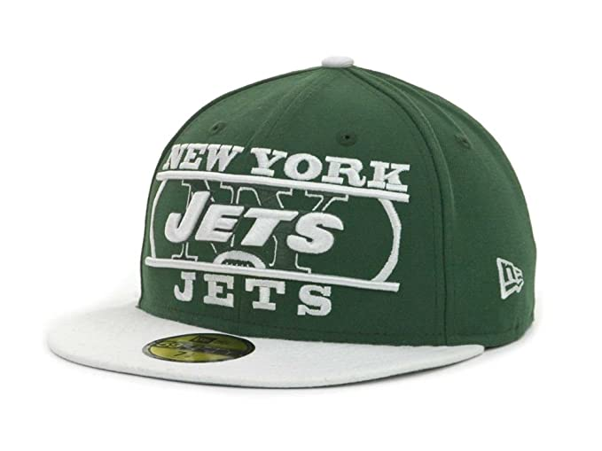 660dd1cac0a New York Jets Men s Logo Zoom New Era 59Fifty Fitted NFL Hat Cap - Green