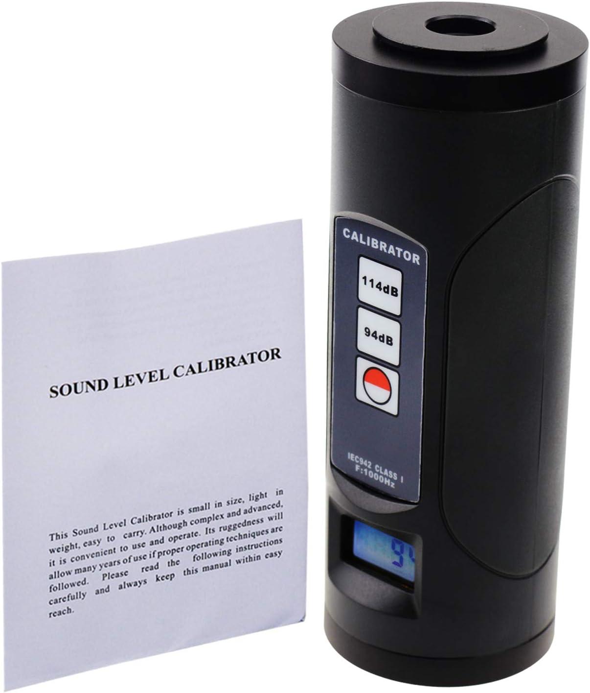 Portatif Sonore Niveau Bruit Calibrateur Mètre Micro 94dB//114dB ±0.3db Précision