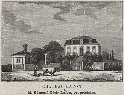 - GRANDS VINS BLANCS. SAUTERNES. Chateau Lafon. Lafon. Bordeaux. SMALL - 1908 - old print - antique print - vintage print - Gironde art prints