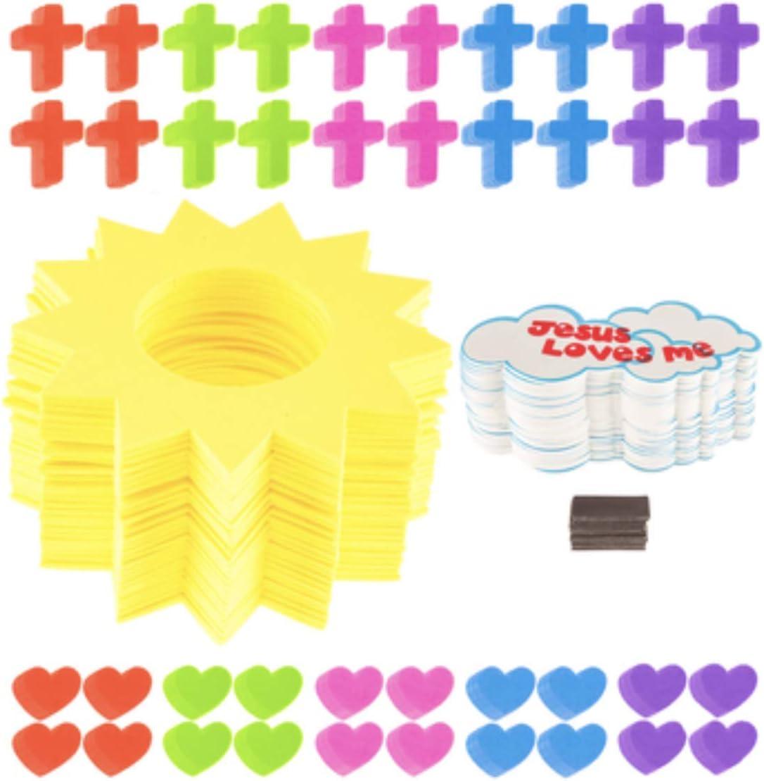 Makes 24 Jesus Loves Me Foam Sun Frame Craft Kit