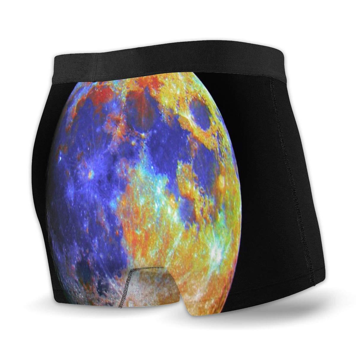 Breathing Yoga Mens Blue Moon Athletic Underwear Cotton Stretch Boxer Brief