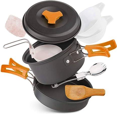 MAICOLA Utensilios de Cocina de Camping Kit Ligero y Compacto ...