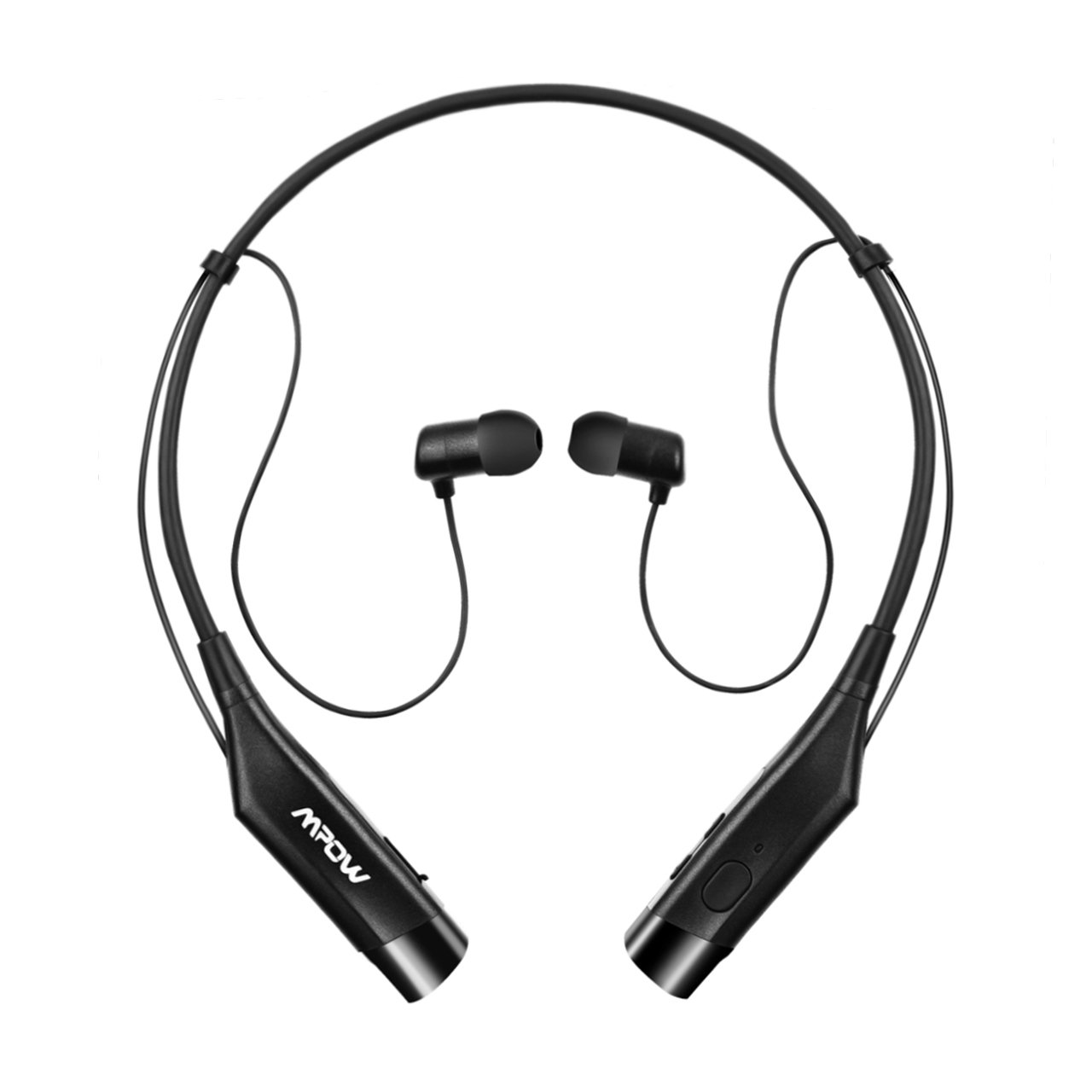 mpow bluetooth headphones v4 1 vibrating call alert wireless neckband. Black Bedroom Furniture Sets. Home Design Ideas
