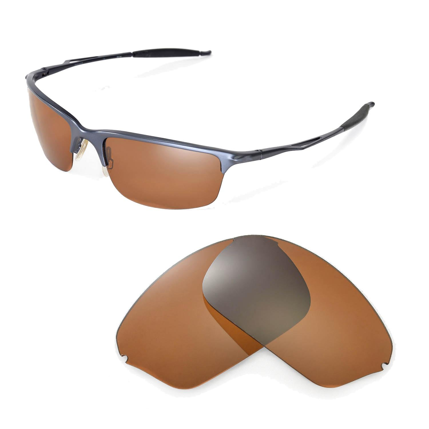ae43c38a7f Galleon - Walleva Replacement Lenses For Oakley Half Wire 2.0 Sunglasses  -Multiple Options Available (Brown - Polarized)