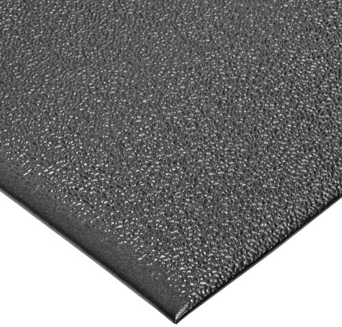 """NoTrax T41 Standard PVC Safety/Anti-Fatigue Comfort Rest Pebble Foam, For Dry Areas, 4' Width x 6' Length x 3/8"""" Thickness, Coal"""