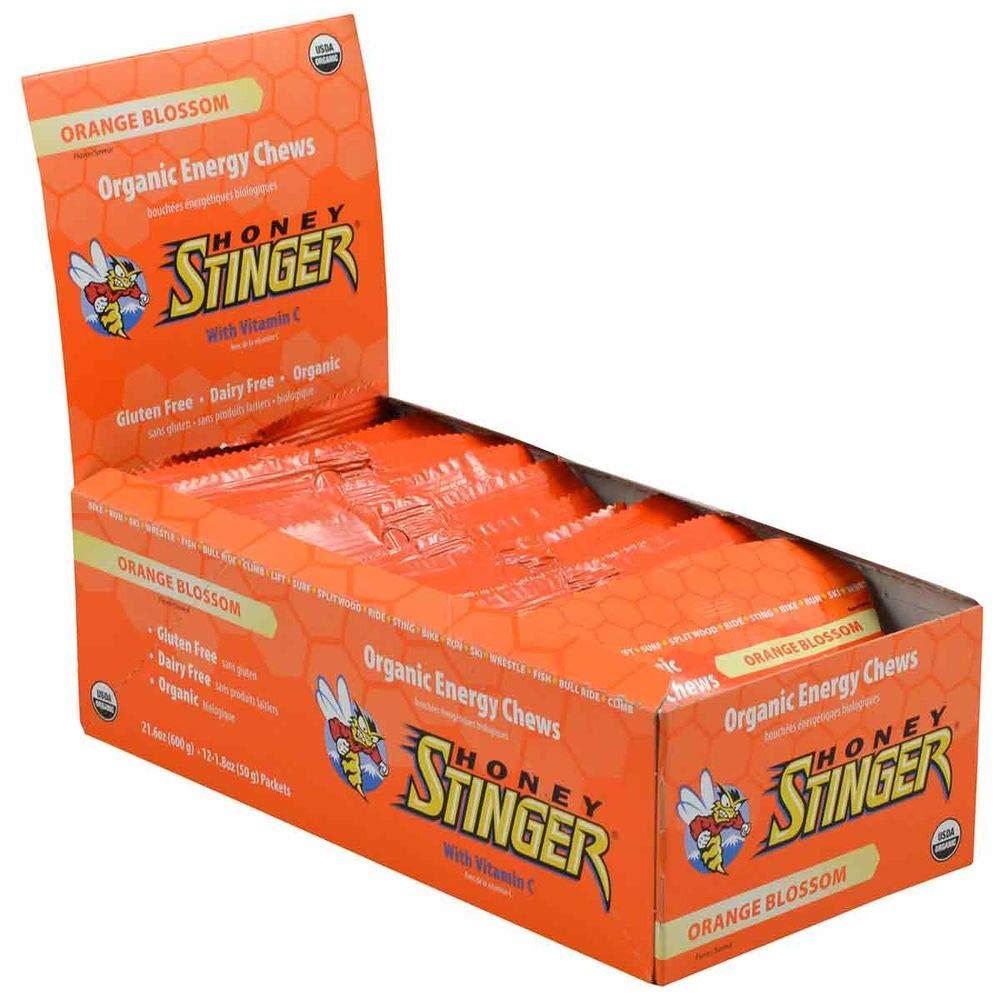 HONEY STINGER Organic Energy Chews, 12- Orange Blossom One Size