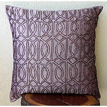 Púrpura Cojines para Cubrir El Sofá, Celosía del Enrejado ...