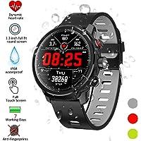 Padgene L8 Sport Smart Watch, Fitness Activiteitstracker met Hartslagmeter en Slaapmonitor, Bluetooth Waterdichte Smart Watch, Stappenteller en Calorie Counter voor Android en IOS