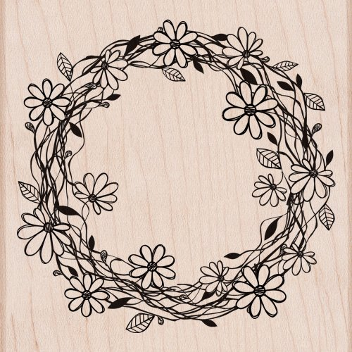 Stamp, Flower Wreath (Frame Rubber Stamp)