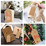 Personalized Gift Tags, 200 PCS Segarty Custom Paper Favor Tags with String, Free Editable Blank Gift Labels For Christmas Wedding Birthday Thanksgiving Gift Ideas, 65 Feet Rope, 2 X 3.94 Inch