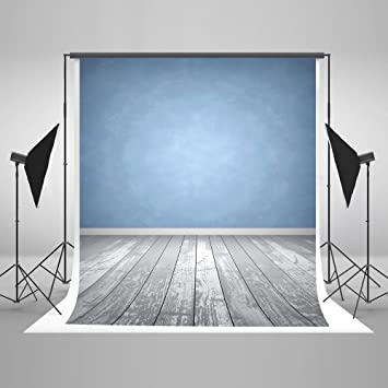 Fotografie Hintergrund Blau Wand Grau Holz Boden Amazon De Kamera
