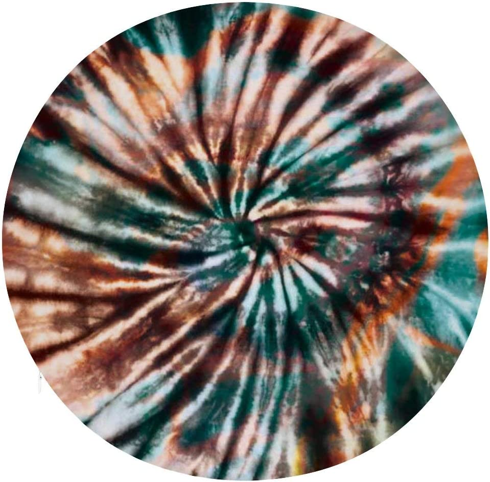 Tamengi Round Setting Cushion, Tie Dye Pattern Floor Pillow Cover Cushion Polyester Decor for Home Party Garden Seating.