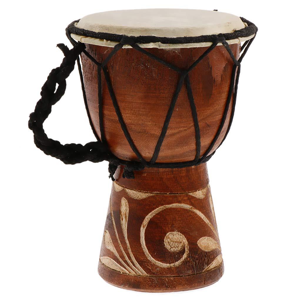 Shiwaki Tambours Enfant Instrument de Musique Africain Traditionnel pour Cadeaux Enfant