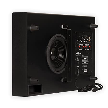 Review Theater Solutions SUB8S 250 Watt Surround Sound HD Home Theater Slim Powered Active Subwoofer (Black)