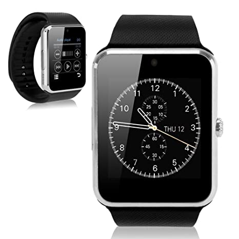 GENORTH 2015 usable Bluetooth Smart Watch GT08 inteligente salud teléfono- reloj con ranura para tarjeta