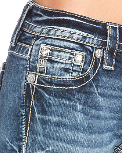 Miss Me Women's Studded Wing Slim Boot Cut Jeans Indigo 31 by Miss Me (Image #3)