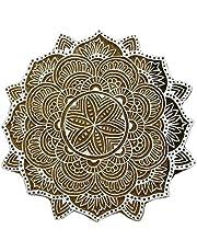 Floral Indian Scrapbook Stamp Wood Block Art Stamp Handcarved Printing Block